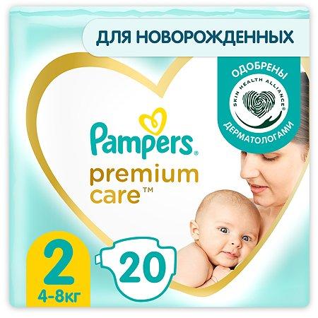 Подгузники Pampers Premium Care Mini 2 4-8кг 20шт