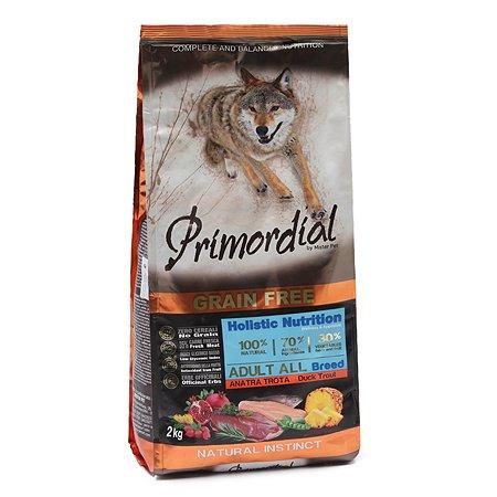 Корм для собак Primordial беззерновой форель-утка 2кг