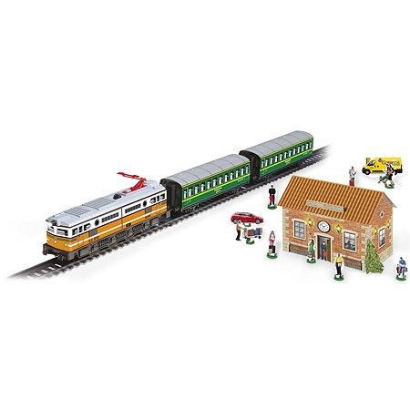 Пассажирский поезд PEQUETREN Классический  (металл) со звуком и станцией