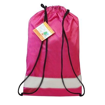 Мешок для обуви Виталфарм 34х45 см со светоотражающей лентой  (розовый)