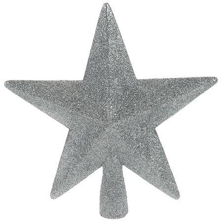 Верхушка для елки KOOPMAN Звезда 19см Серебряный CAA691398