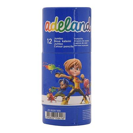 Цветные карандаши Adel Jumbo Неха ADELAND 12 цв.