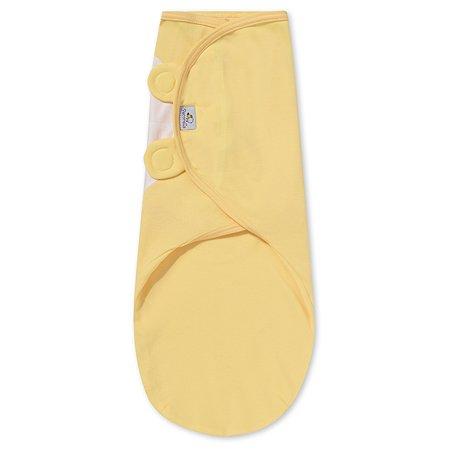 Пеленка Pecorella SwaddleFun на липучках M 2.5-6.5кг Mid yellow