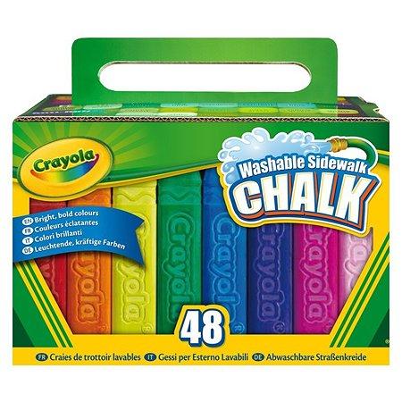 Мел Crayola для асфальта 48 шт.