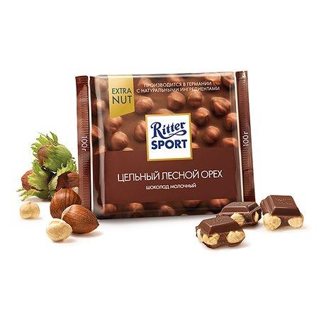 Шоколад молочный Ritter Sport EXTRA NUT Лесной орех 100г