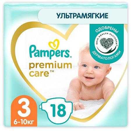 Подгузники Pampers Premium Care 3 6-10кг 18шт