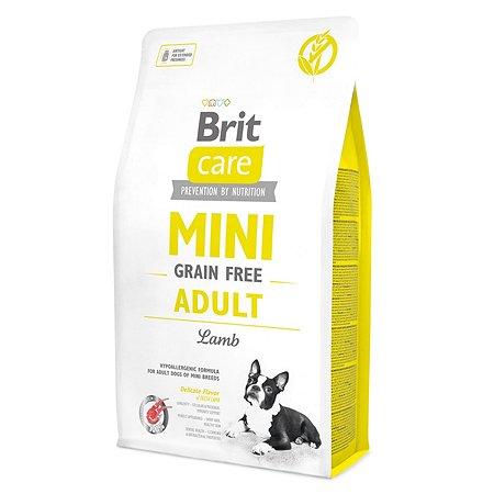 Корм для собак Brit Care мини пород беззерновой с ягненком сухой 2кг
