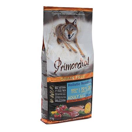 Корм для собак Primordial беззерновой форель-утка 12кг