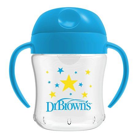 Чашка-непроливайка Dr Brown's с ноcиком 180мл с 6месяцев Синяя