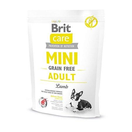 Корм для собак Brit Care мини пород беззерновой с ягненком сухой 400г