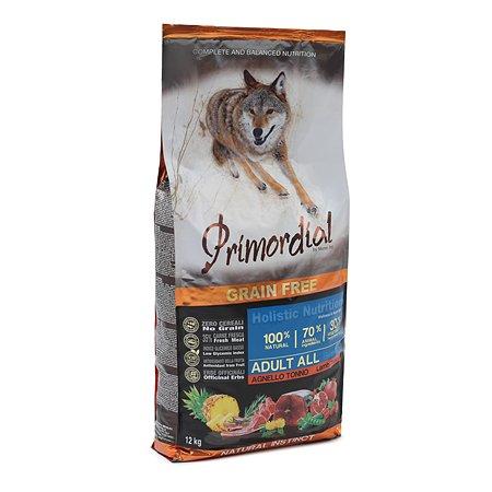 Корм для собак Primordial беззерновой тунец-ягненок 12кг