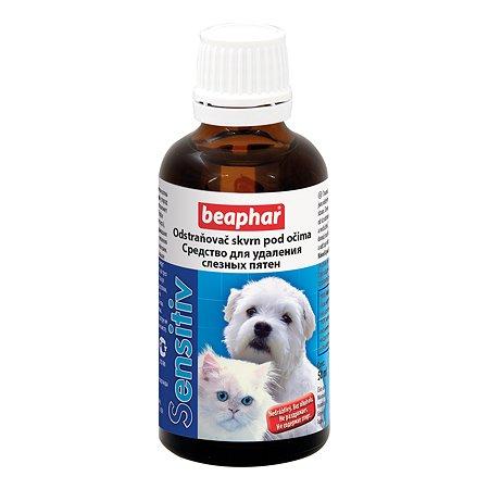 Лосьон для собак и кошек Beaphar Sensitiv для удаления слезных пятен 50мл