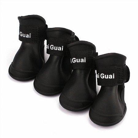 Ботинки для собак Грызлик Ам XXL Черные