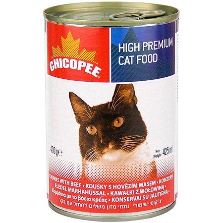 Корм для кошек Chicopee с говядиной консервированный 400г