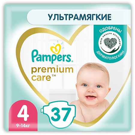 Подгузники Pampers Premium Care 4 9-14кг 37шт