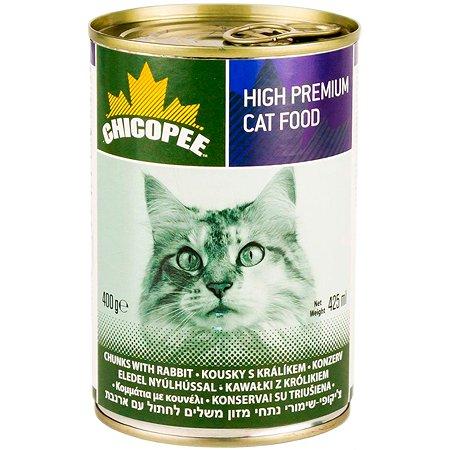 Корм для кошек Chicopee с кроликом консервированный 400г