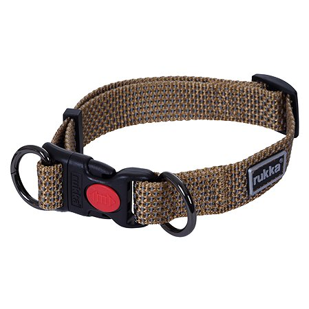Ошейник для собак RUKKA PETS M Коричневый 460125292J120M