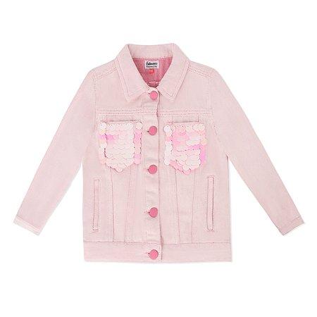 Джинсовая куртка Futurino Fashion розовая