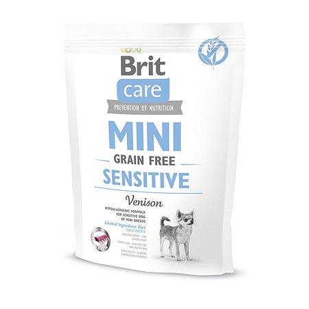 Корм для собак Brit Care мини пород с чувствительным пищеварением сухой 400г