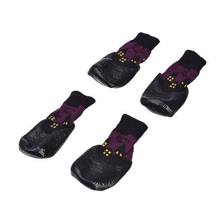 Носки для собак Грызлик Ам M Фиолетовые