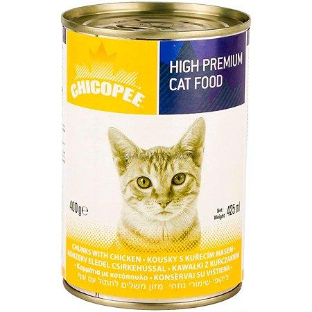 Корм для кошек Chicopee с курицей консервированный 400г