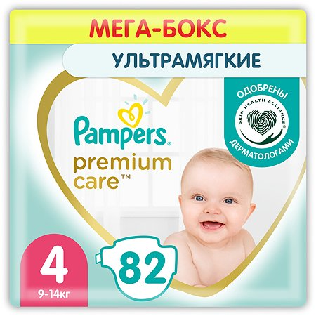 Подгузники Pampers Premium Care 4 9-14кг 82шт