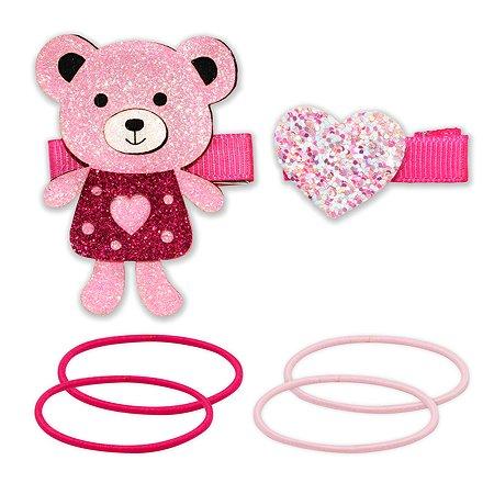 Набор для создания прически B&H Мишка и сердце 6шт W0117