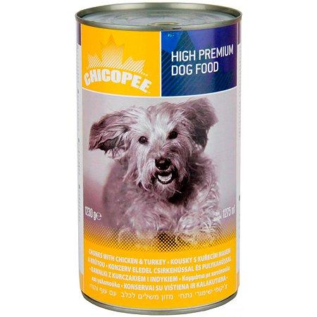 Корм для собак Chicopee с курицей и индейкой консервированный 1.23кг