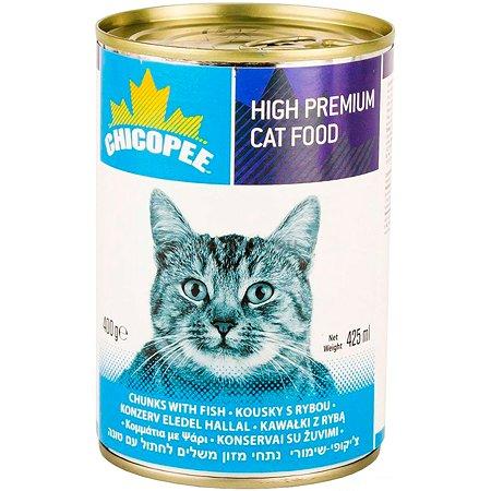 Корм для кошек Chicopee с рыбой консервированный 400г
