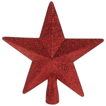 Верхушка для елки KOOPMAN Звезда 19см Красный CAA691413