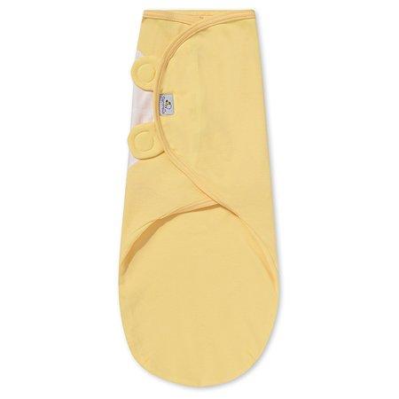Пеленка Pecorella SwaddleFun на липучках XL 6.5-10кг Mid yellow