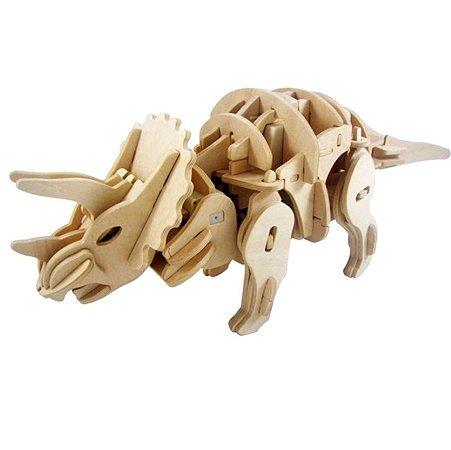 Деревянный  конструктор D-LEX Трицератопс (умеет ходить)