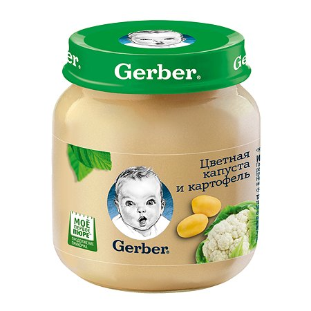 Пюре Gerber цвет капуста-картофель 130г
