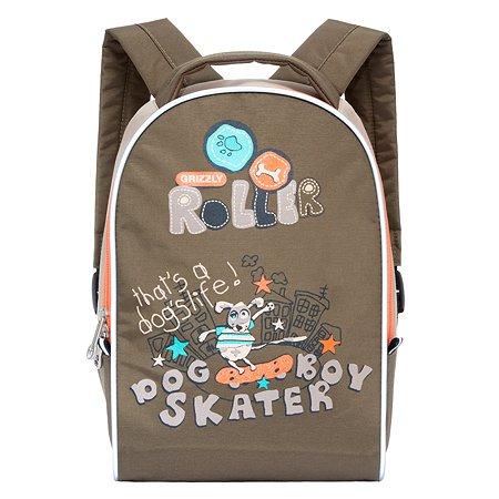 Рюкзак для мальчика Grizzly роллер бежевый