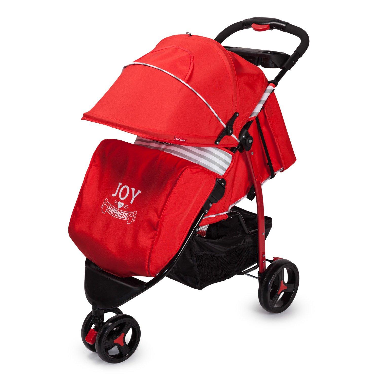 Прогулочная коляска Babyton Stripe Red