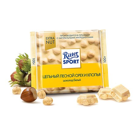 Шоколад белый Ritter Sport EXTRA NUT Лесной цел. орех  100г