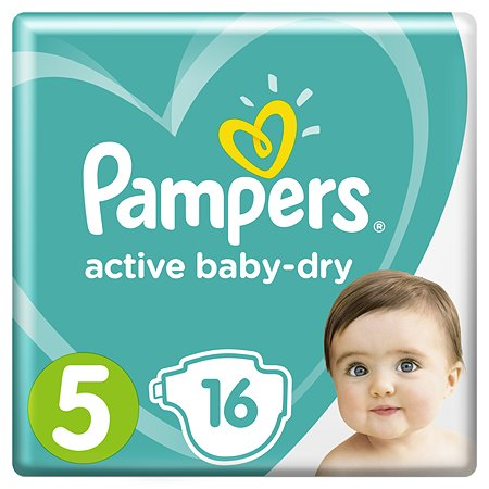 Подгузники Pampers Active Baby-Dry 5 11-16кг 16шт