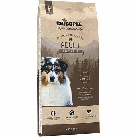 Корм для собак Chicopee CNL ягненок-рис 15кг