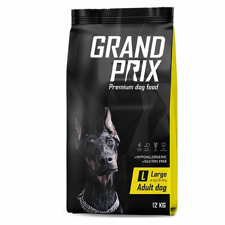 Корм для собак Grand Prix Large Adult курица 12кг