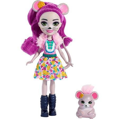 Кукла Enchantimals Фондю и мышка Майла FXM76
