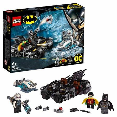 Конструктор LEGO DC Comics Super Heroes Гонка на мотоциклах с Мистером Фризом 76118