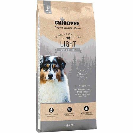 Корм для собак Chicopee CNL Light ягненок-рис 15кг