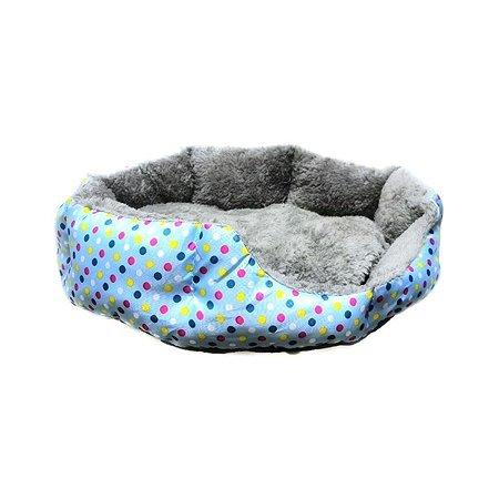 Лежак для кошек Ripoma Круглый меховой голубой Ripoma