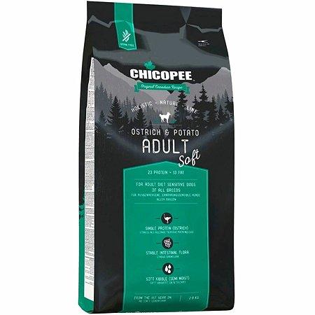 Корм для собак Chicopee HNL Soft страус-картофель 2кг