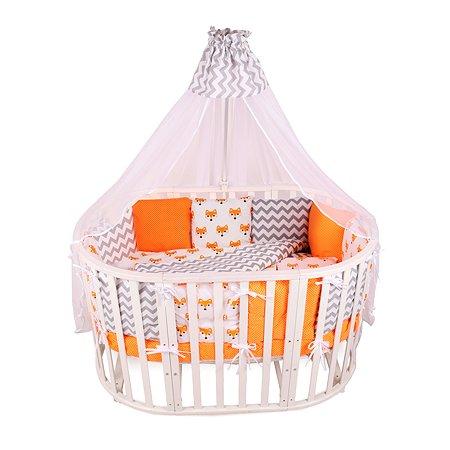 Комплект постельного белья AMARO BABY Хитрый лис 4предмета Оранжевый