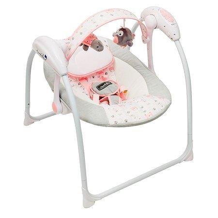 Электрокачели AMARO BABY Swinging Baby Cеро-розовый