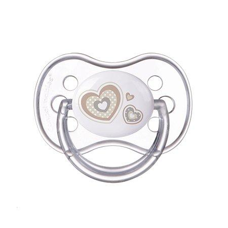 Пустышка Canpol Babies Newborn baby симметричная 0-6месяцев Белая