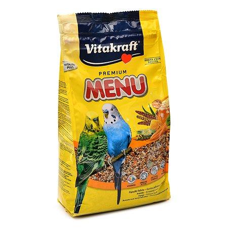 Корм для волнистых попугаев Vitakraft Menu 1кг основной 18102