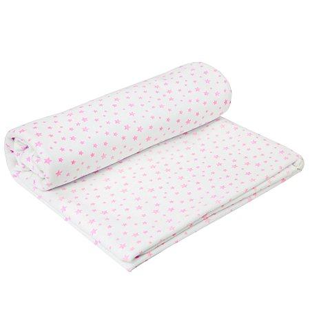 Пеленка AMARO BABY Soft Hugs Звезды Розовые