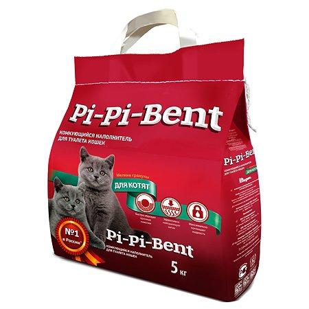 Наполнитель для котят Pi-Pi-Bent комкующийся крафт пакет 5кг 12007